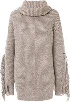 Stella McCartney fringe sleeve sweater - women - Cashmere/Wool - 38