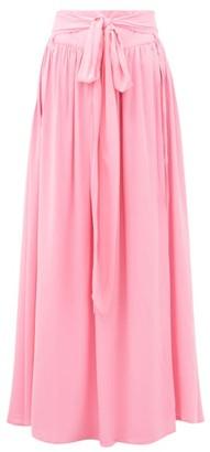 Melissa Odabash Elsa Belted Poplin Maxi Skirt - Womens - Pink