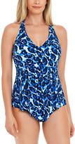Magicsuit Women's Tankini Tops BLU - Blue Leopard Tide Taylor Racerback Tankini Top - Women