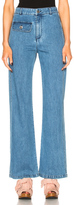 See by Chloe Wide Leg Denim Trousers in Blue.