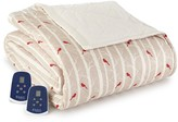 Micro Flannel Electric Heated Comforter/Blanket - Cardinals
