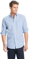 Izod Big & Tall Saltwater Oxford Plaid Woven Button-Down Shirt