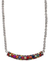 Effy Sterling Silver Multi-Colored Sapphire Necklace