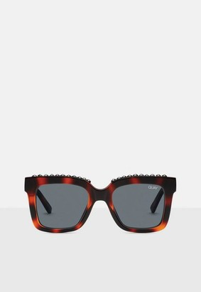 Missguided Quay Australia Brown Tortoise Shell Icy Sunglasses
