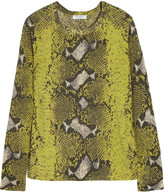 Equipment Sloane snake-print cashmere sweater