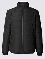 M&S Collection Quilted Jacket with StormwearTM