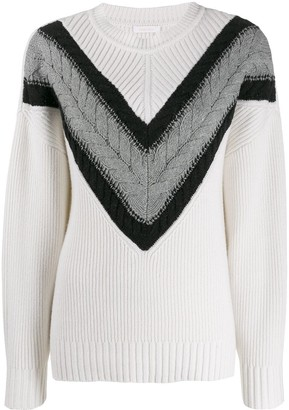 See by Chloe Cable Strip Jumper