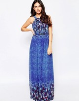Little Mistress Maxi Dress with Water Paint Floral
