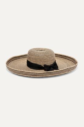 Gigi Burris Millinery Lorena Grosgrain-trimmed Raffia Straw Hat - Black