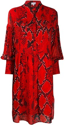 Lala Berlin Snakeskin Print Shirt Dress
