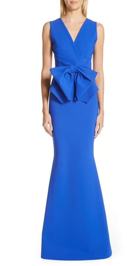 Chiara Boni Oshun Bodice Bow Evening Dress
