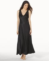 Soma Intimates Taylor Long Satin Nightgown Black