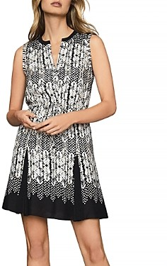 Reiss Antonia Arrow Print Dress