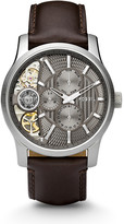 Fossil Mechanical Twist Brown Leather Watch