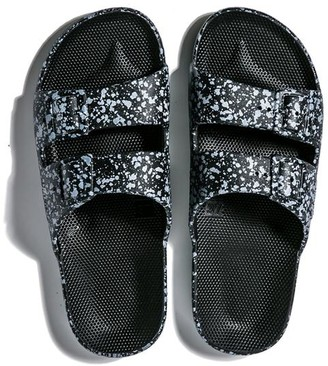 Freedom Moses Slippers Black Splatter - 34/35 - 2/3 - W4/5