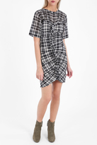 Etoile Isabel Marant Wallace Check Ruched Dress