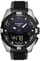 Tissot T0914204605101 T-touch Expert Solar Chronograph Altimeter Rubber Strap Watch, Black