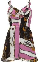 River Island Womens Black and pink scarf print frill romper