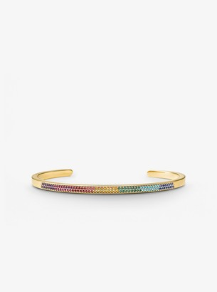 Michael Kors 14K Gold-Plated Sterling Silver Rainbow Pave Nesting Cuff