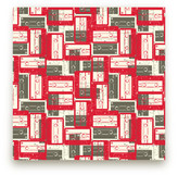 Minted Mixed Tape Self-Launch Fabric