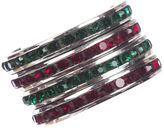 One Kings Lane Vintage Art Deco Sterling Eternity Glass Rings