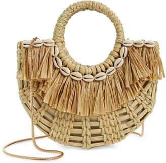 Poolside Mini Holly Straw & Raffia Crossbody Bag