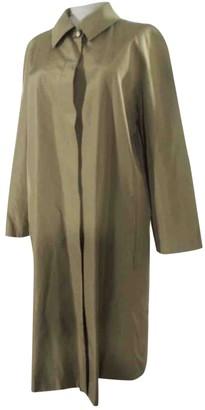 Celine Khaki Silk Coat for Women Vintage