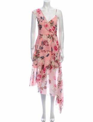 Nicholas Silk Long Dress Pink