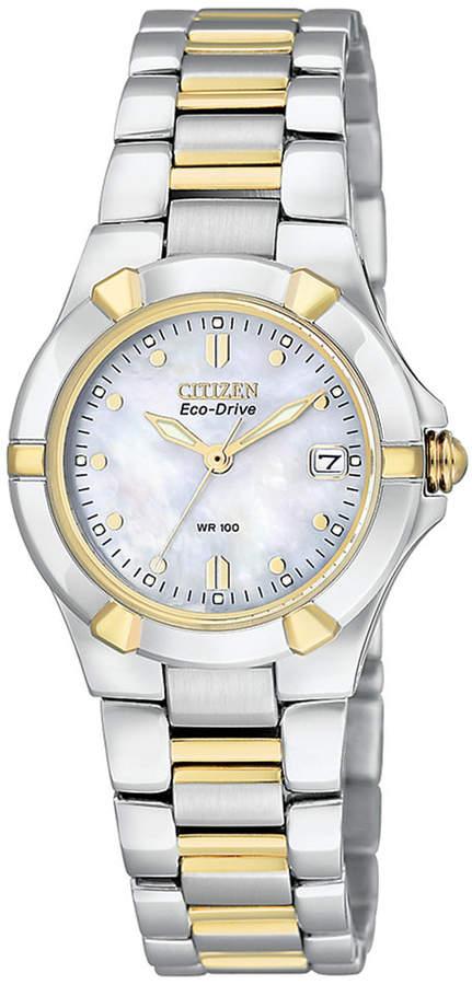 Citizen Women's Eco-Drive Two-Tone Stainless Steel Bracelet Watch 26mm EW1534-57D