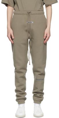Essentials Taupe Fleece Lounge Pants