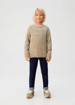 MANGO Recycled polyester knit sweater sand - 5 - Kids