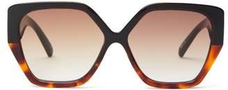 Le Specs So Fetch Geometric Acetate Sunglasses - Womens - Brown