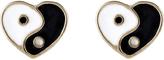 Accessorize Yin Yang Heart Stud Earrings