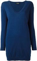 Twin-Set V-neck loose-fit jumper - women - Cotton/Cashmere - M