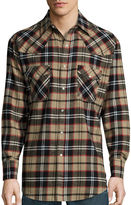 Ely Cattleman Long-Sleeve Flannel Snap-Front Western Shirt Big and Tall