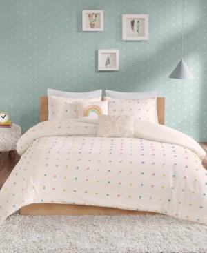 Urban Habitat Kids Callie Twin/Twin Xl 4 Piece Cotton Jacquard Pom Pom Comforter Set Bedding