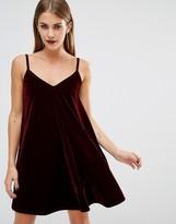 Boohoo Velvet Swing Dress