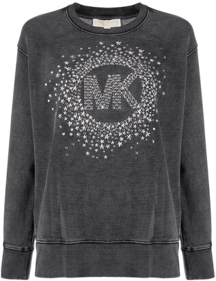 MICHAEL Michael Kors Logo-Studded Cotton Sweatshirt