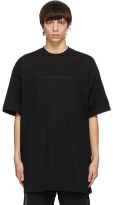 Vetements Black Haute Couture Logo T-Shirt