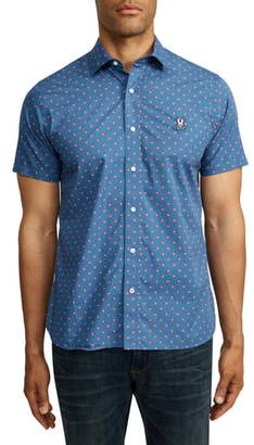 Psycho Bunny Saltwell Short Sleeve Button-Up Shirt