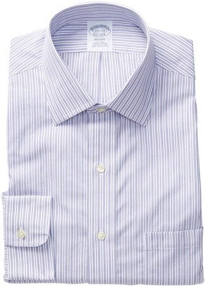 Brooks Brothers Contrast Stripe Regent Fit Dress Shirt