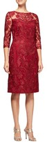 Alex Evenings Women's Embroidered Illusion Shift Dress