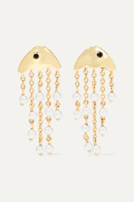Yvonne Léon 9-karat Gold, Pearl And Diamond Earrings