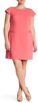 Eliza J Cap Sleeve Shift Dress (Plus Size)