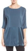 Eileen Fisher Women's Scoop Neck Three-Quarter Sleeve Top