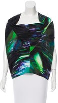Zero Maria Cornejo Silk Abstract Print Top