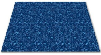 Kid Carpet Animal Doodles Blue Area Rug Rug Size: Rectangle 12' x 18'