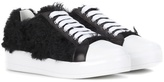 Prada Faux fur sneakers