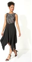 M&Co Roman Originals hanky hem lace fit and flare dress