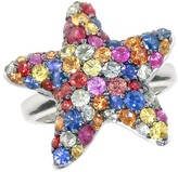 Effy Jewelry Effy 925 Splash Multi Sapphire Starfish Ring, 2.80 TCW